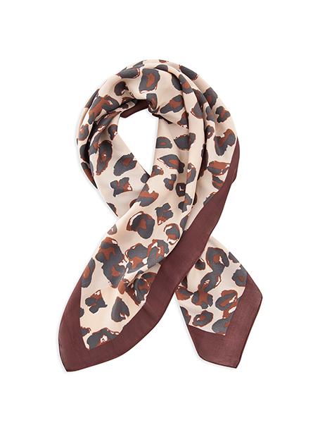 格紋豹紋方巾