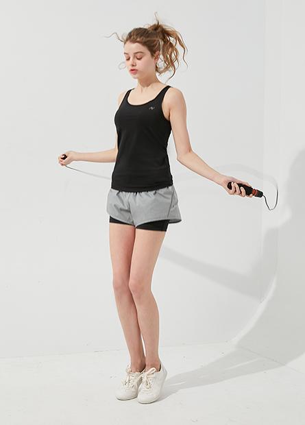 抽繩雙層運動短褲