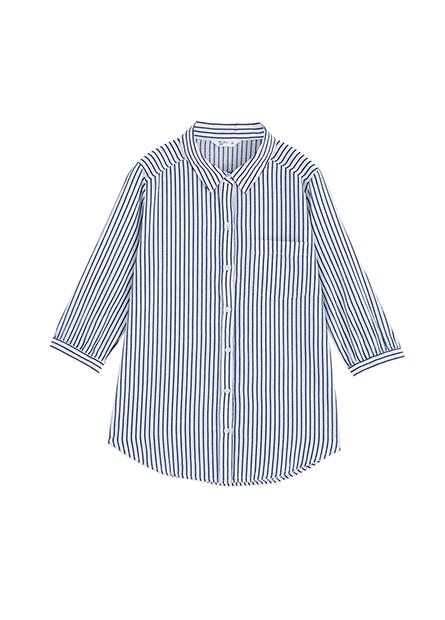 中長袖綁結單口袋襯衫