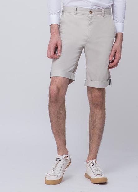 Slim Fit反摺短褲