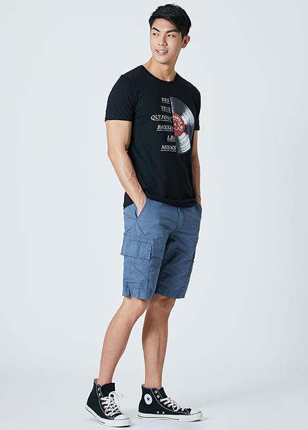 Regular Fit水洗多口袋短褲