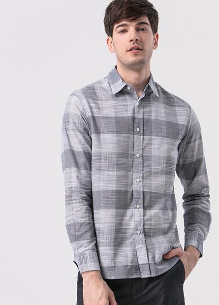 水洗長袖襯衫