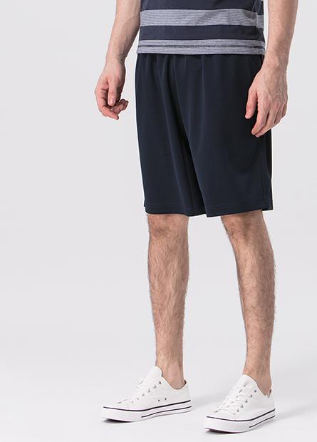 素色抽繩運動短褲