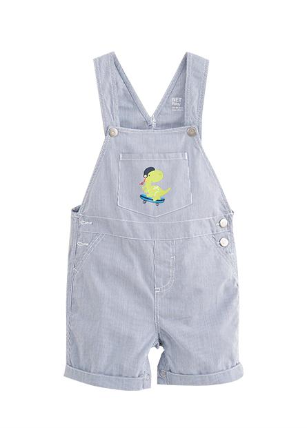 男嬰滑板恐龍吊帶短褲