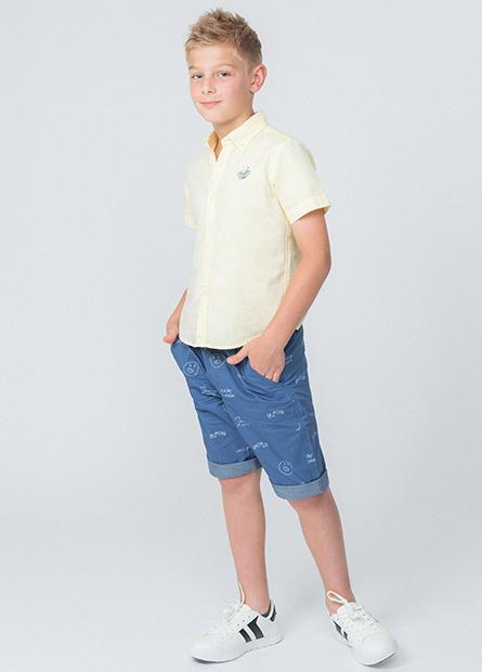 男童反摺配布短褲