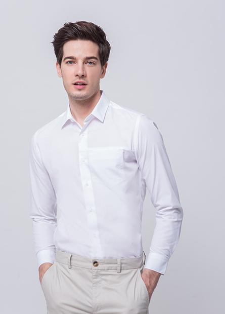 Slim Fit口袋長袖時裝襯衫