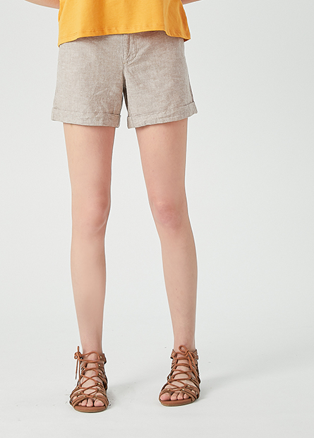 休閒反摺短褲