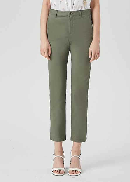 素色錐形長褲