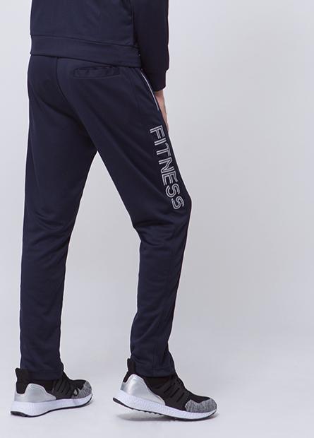 窄身拉鍊口袋運動長褲