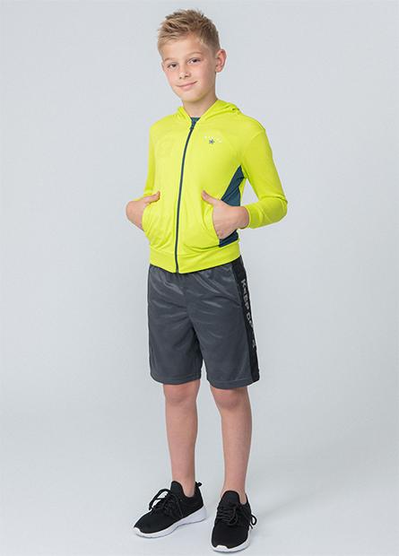 男童抗UV印字連帽外套