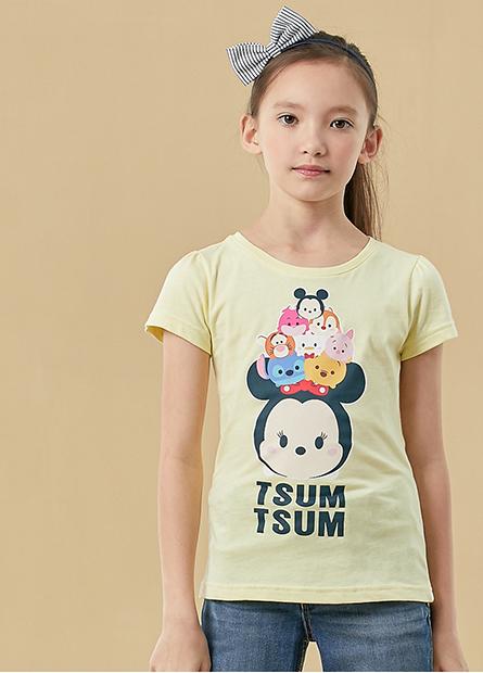 女童TSUM TSUM泡泡袖T