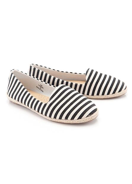 女布面麻編底平底鞋