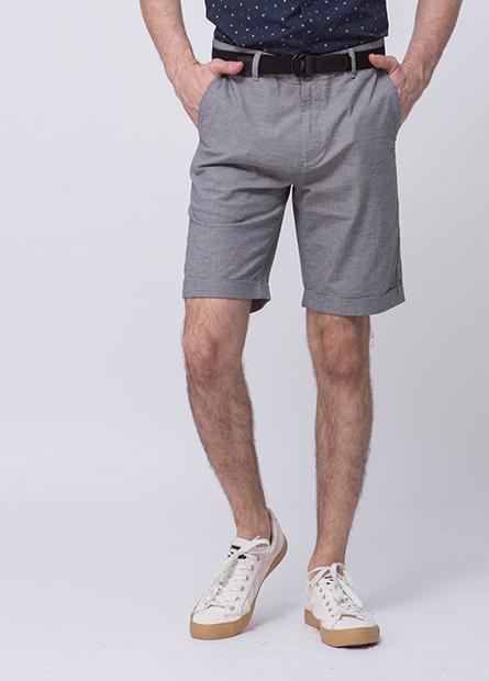 附腰帶反摺短褲