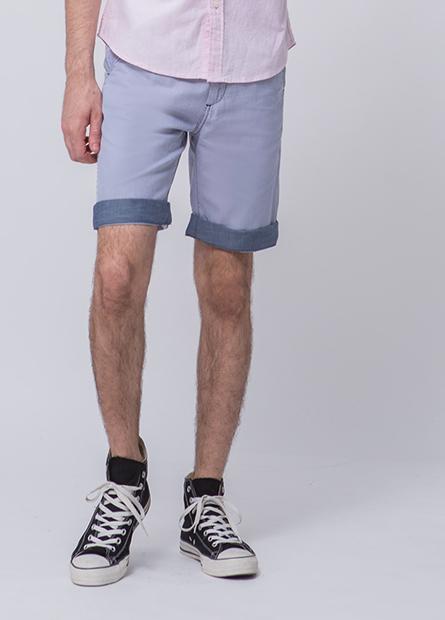 Regular Fit褲口反摺短褲