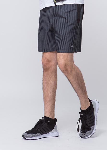 口袋配布拼接路跑短褲