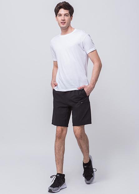 素色側口袋短褲