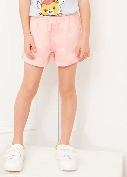 女童彈性腰頭休閒短褲