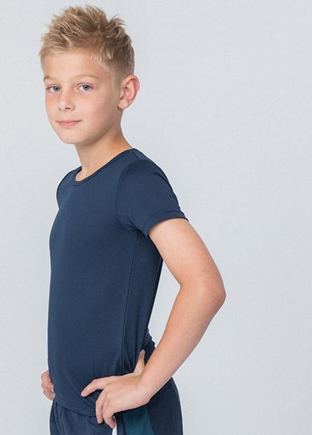 男童涼感圓領短袖上衣