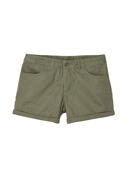 反摺休閒短褲