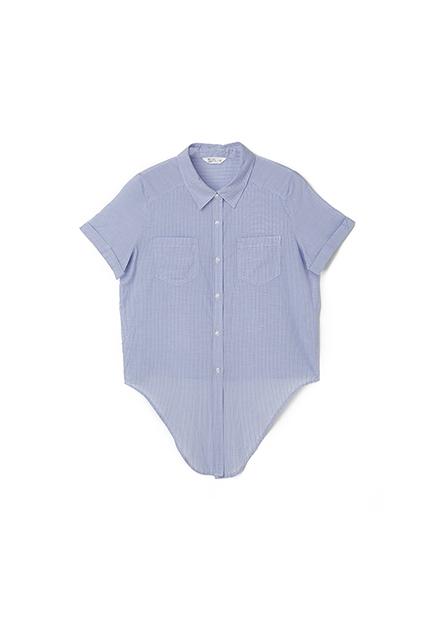 下襬綁結短袖襯衫