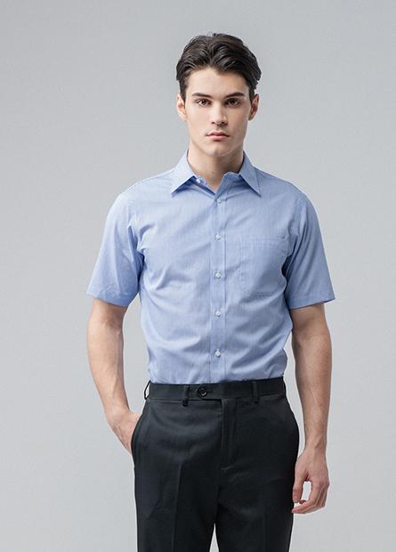 Regular Fit單口袋短袖襯衫