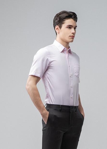 Slim Fit標準領短袖襯衫