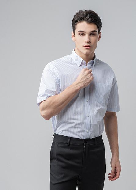 Slim Fit鈕釦領短袖襯衫