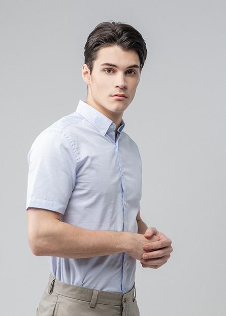 Slim Fit鈕釦領水洗襯衫