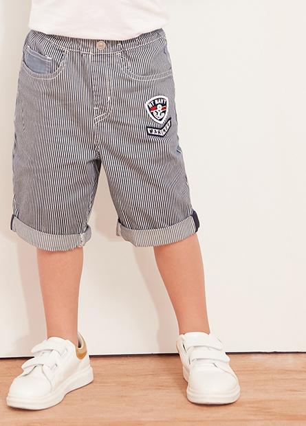 男童反摺五口袋短褲