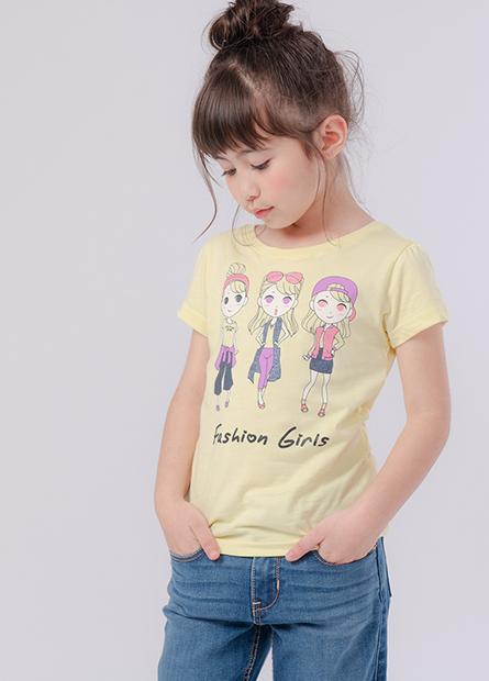 女童人魚三姊妹泡袖T