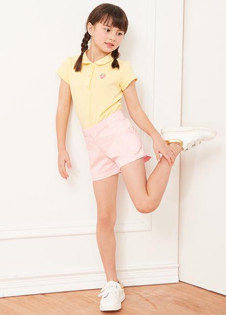 女童左胸繡花POLO衫
