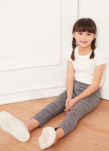 女童運動七分長褲