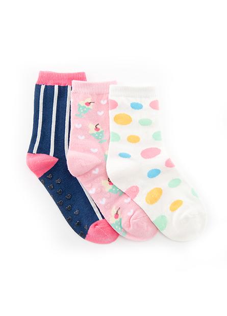 女童提花短襪(三入)