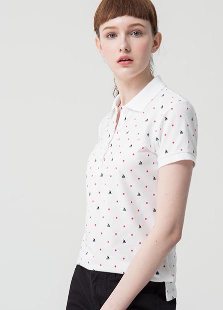 條紋印花POLO衫