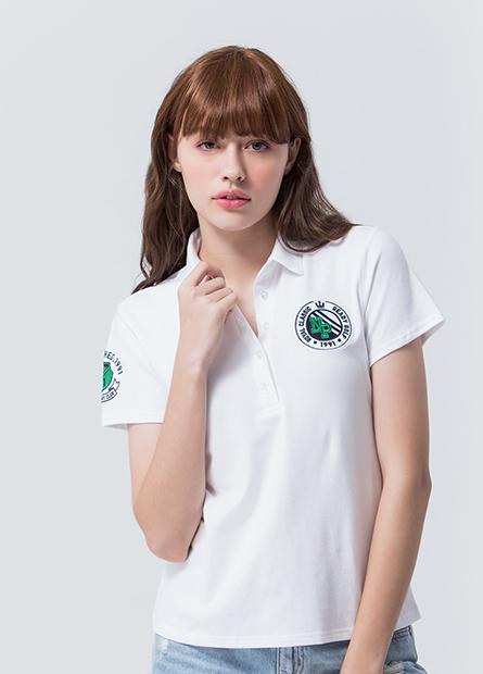 左胸袖圓章POLO衫