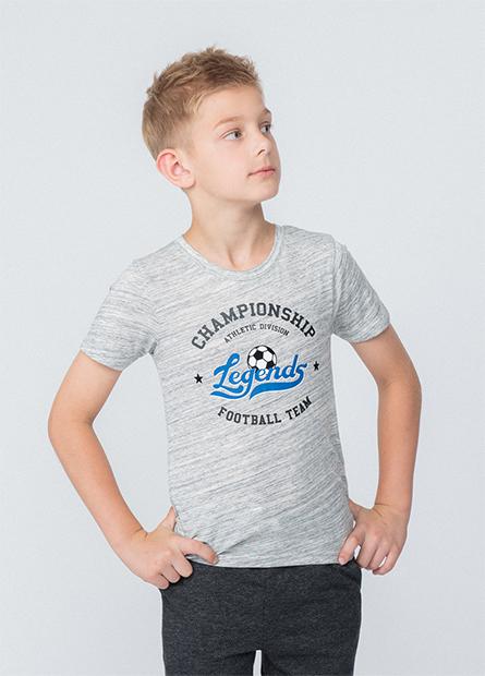 男童植絨足球字母T