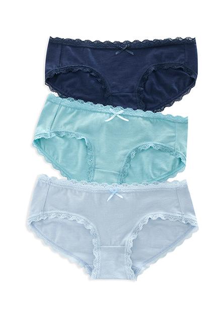 女低腰蕾絲內褲(三入)