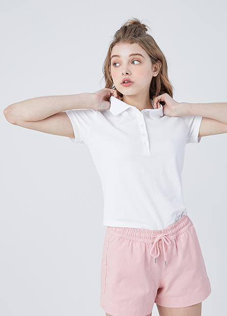 素色彈力POLO衫