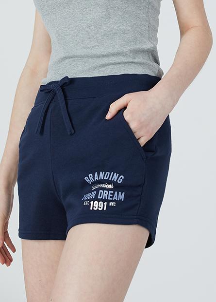 針織平口短褲