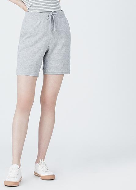 針織平口五分褲