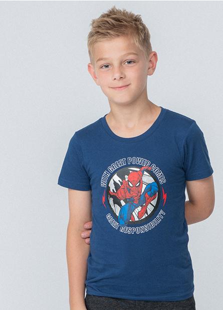 男童蜘蛛人城市T