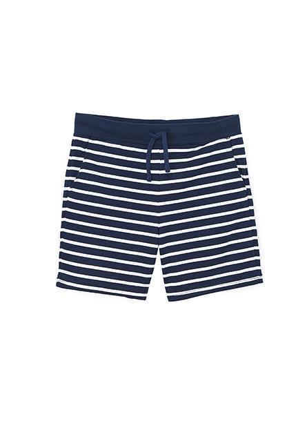 條紋抽繩毛圈短褲