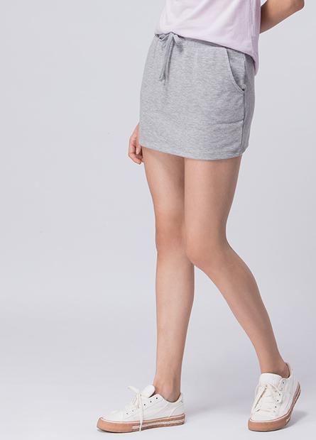 抽繩裙式短褲