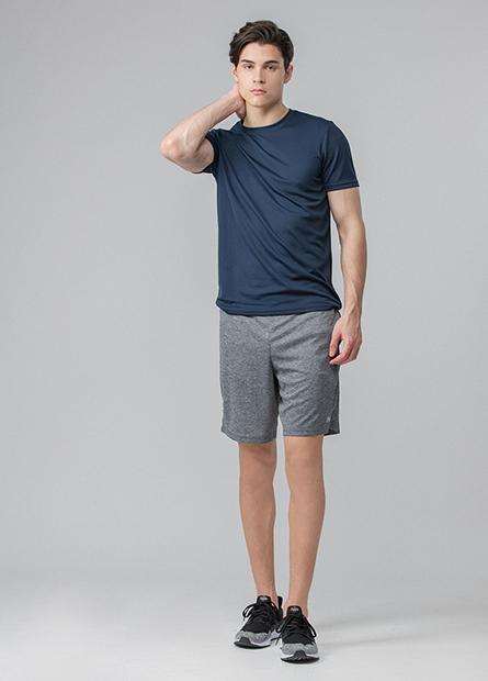 腰織帶字母運動短褲