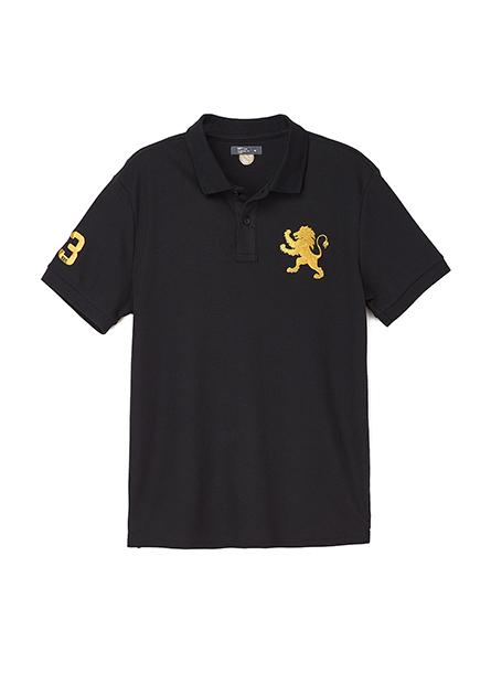 素色大繡獅POLO衫