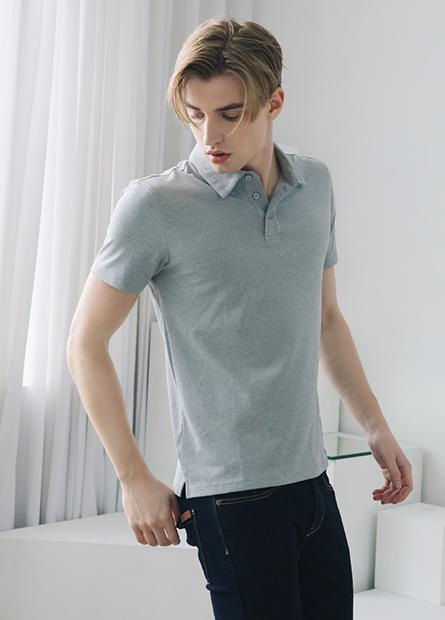 彈力素色POLO衫