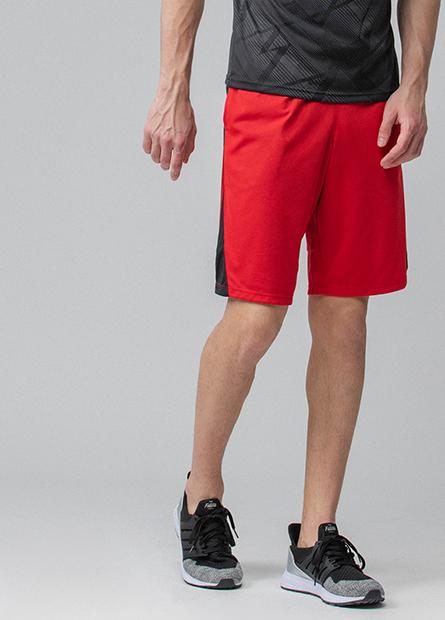 拼接抽繩運動短褲