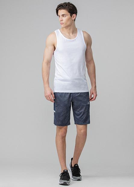 配色拼接運動短褲