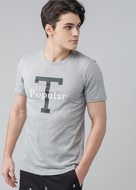 正反面配色字母T