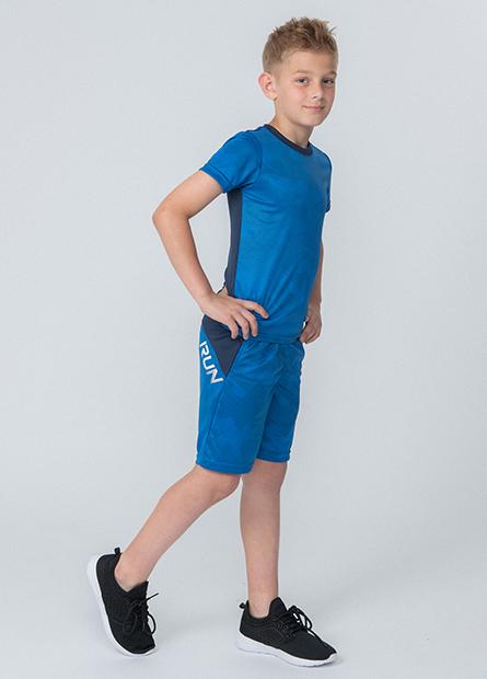 男童撞色拼接運動短褲
